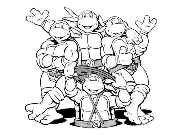 image about Ninja Turtle Printable Coloring Pages named line drawings on the net Teenage Mutant Ninja Turtles Printable