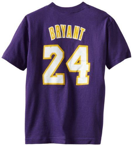 d22cef40494 NBA Los Angeles Lakers Kobe Bryant Youth 8-20 Short Sleeve T-Shirt Game