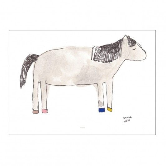 Wilde Horse Print is new to the loveable range of kids prints by Pax & Hart. This unique print will add a splash of fun and colour to any kids decor.Materials: Printed on 180gsm white matte paperMeasures: 50cm x 70cmThis ...