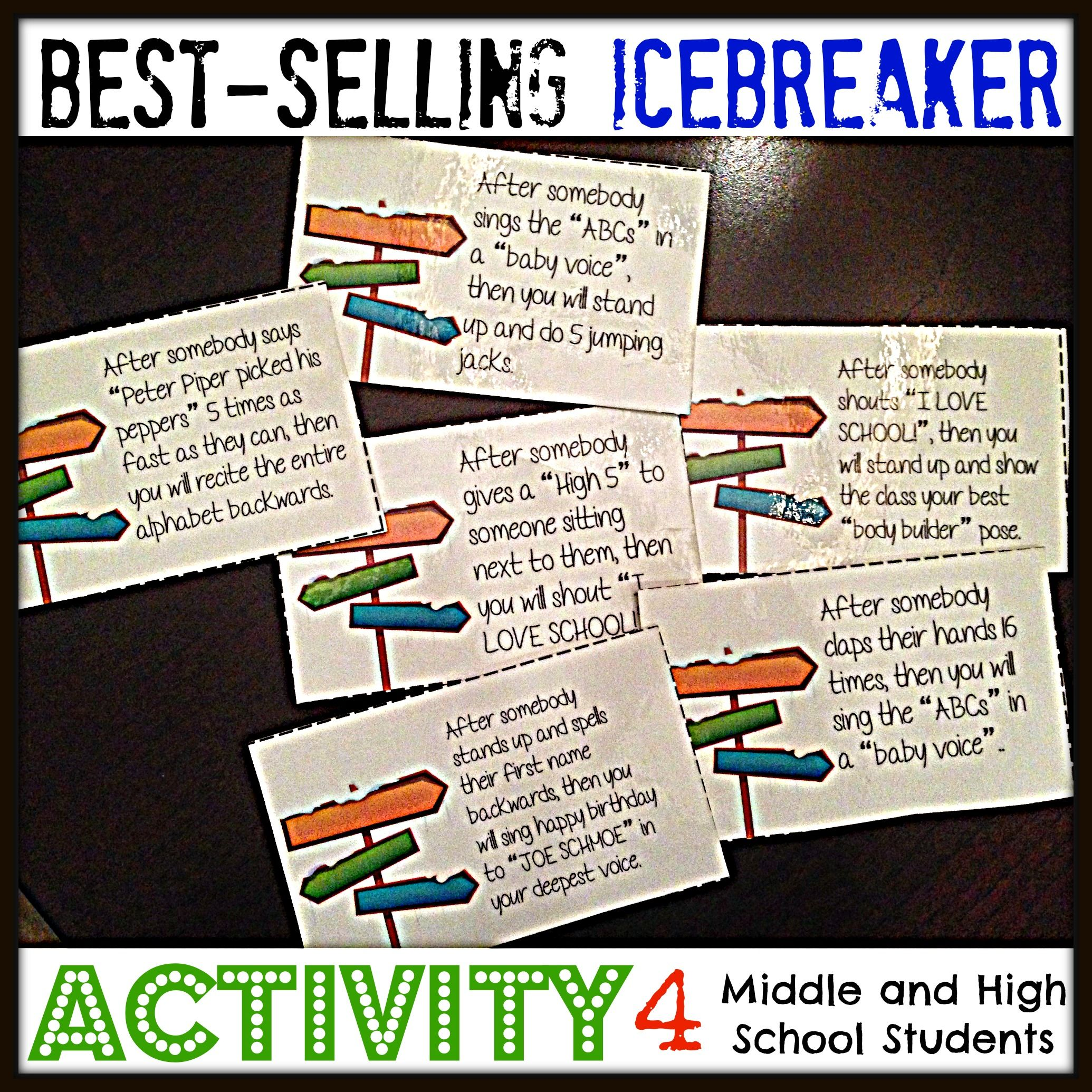Back To School Icebreaker Activity Can You Follow