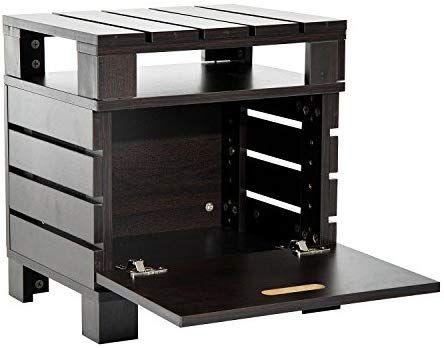 Homcom Table Basse Table Du0027appoint à Lattes Style Colonial Coffre Et  étagère De Rangement