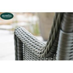 Photo of Polyrattan seating group Dubai 6-person round weave Essella