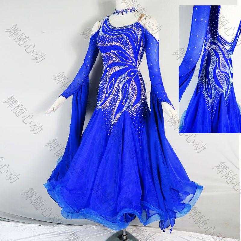 Handmade Dance Dress//Standard Ballroom Competition Dress Modern Waltz Tango dres