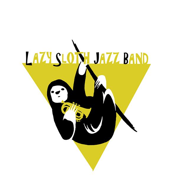 Lazy Sloth Jazz Band On Behance Jazz Band Sloth Jazz