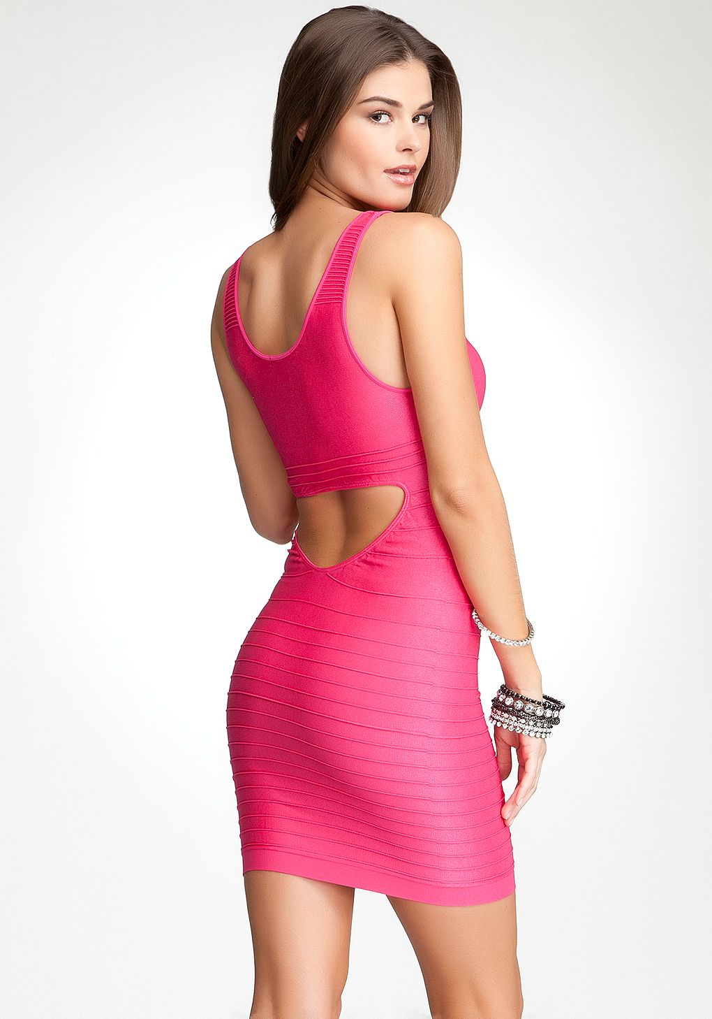 Hot pink bebe bodycon dress. I have this dress in blue an