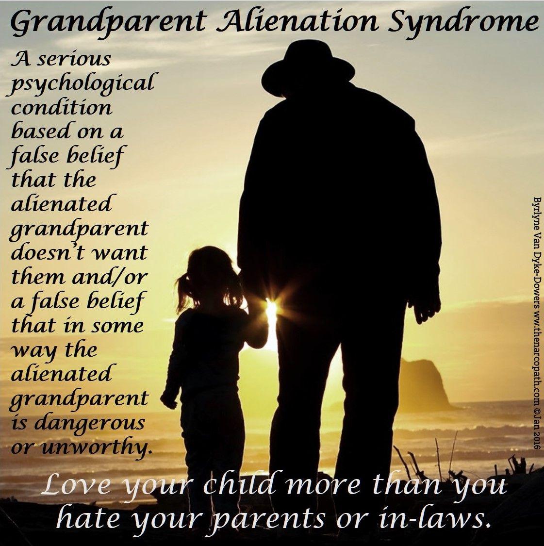 Grandparent Alienation Syndrome - occurs when a parent ...