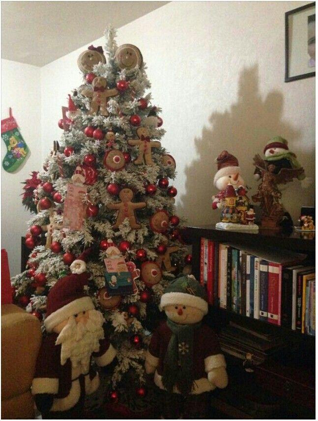 Precioso arbol de Navidad decorado con muñecos de jengibre ...