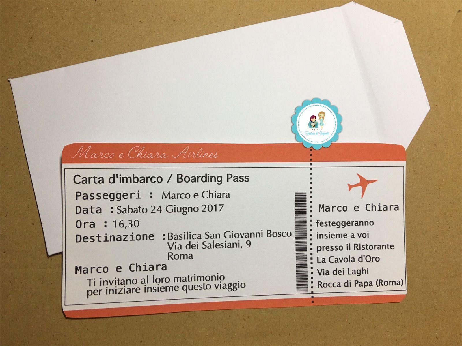 Partecipazione Matrimonio Biglietto Aereo Carta D Imbarco Biglietti Aerei Biglietto