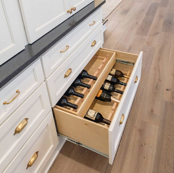 Kitchen Without Furniture: Kitchen Cabinet With Wine Drawer Kitchen Hutch Features A