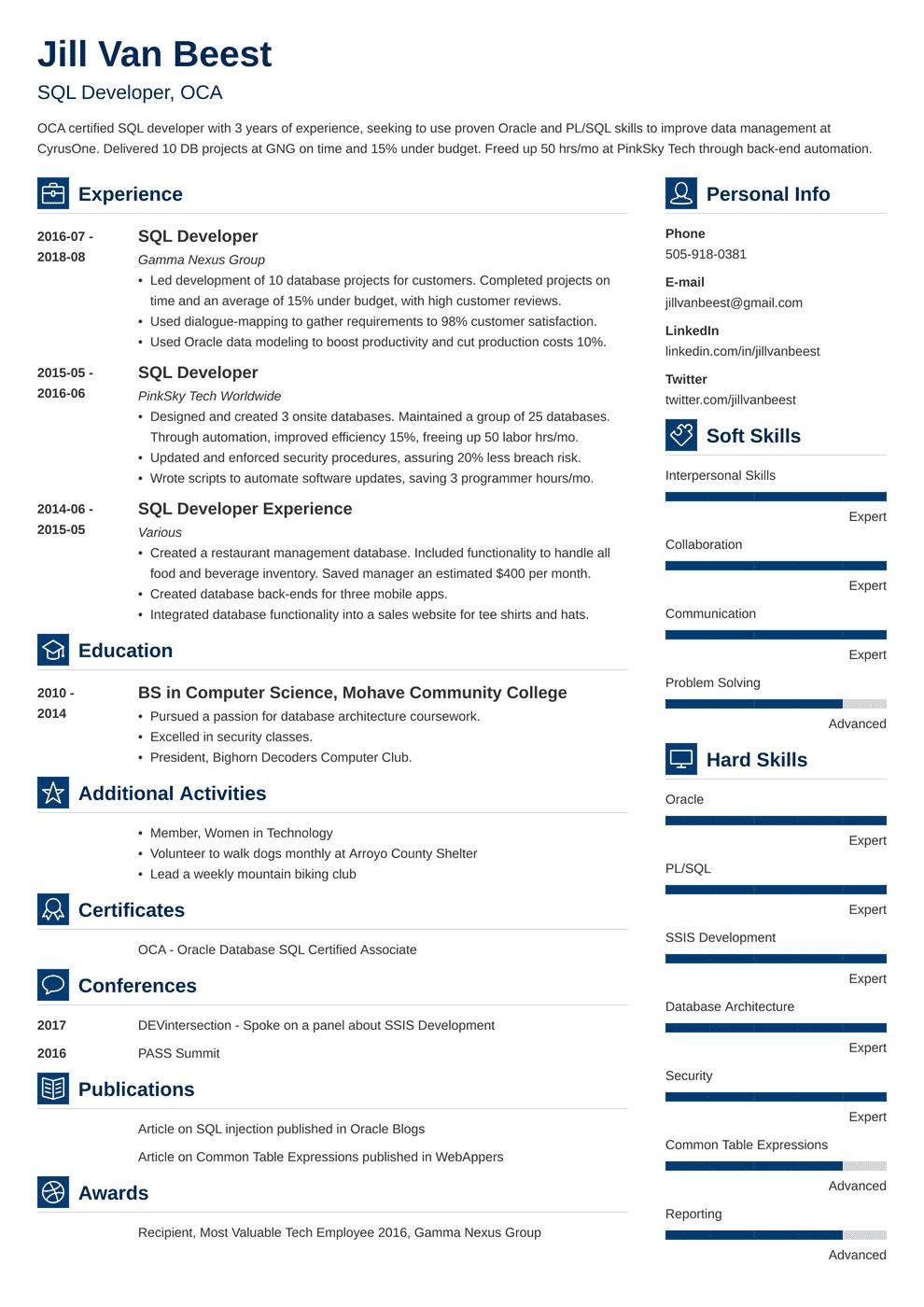Sql Developer Resume Template Vibes Civil Engineer Resume Engineering Resume Job Resume Examples