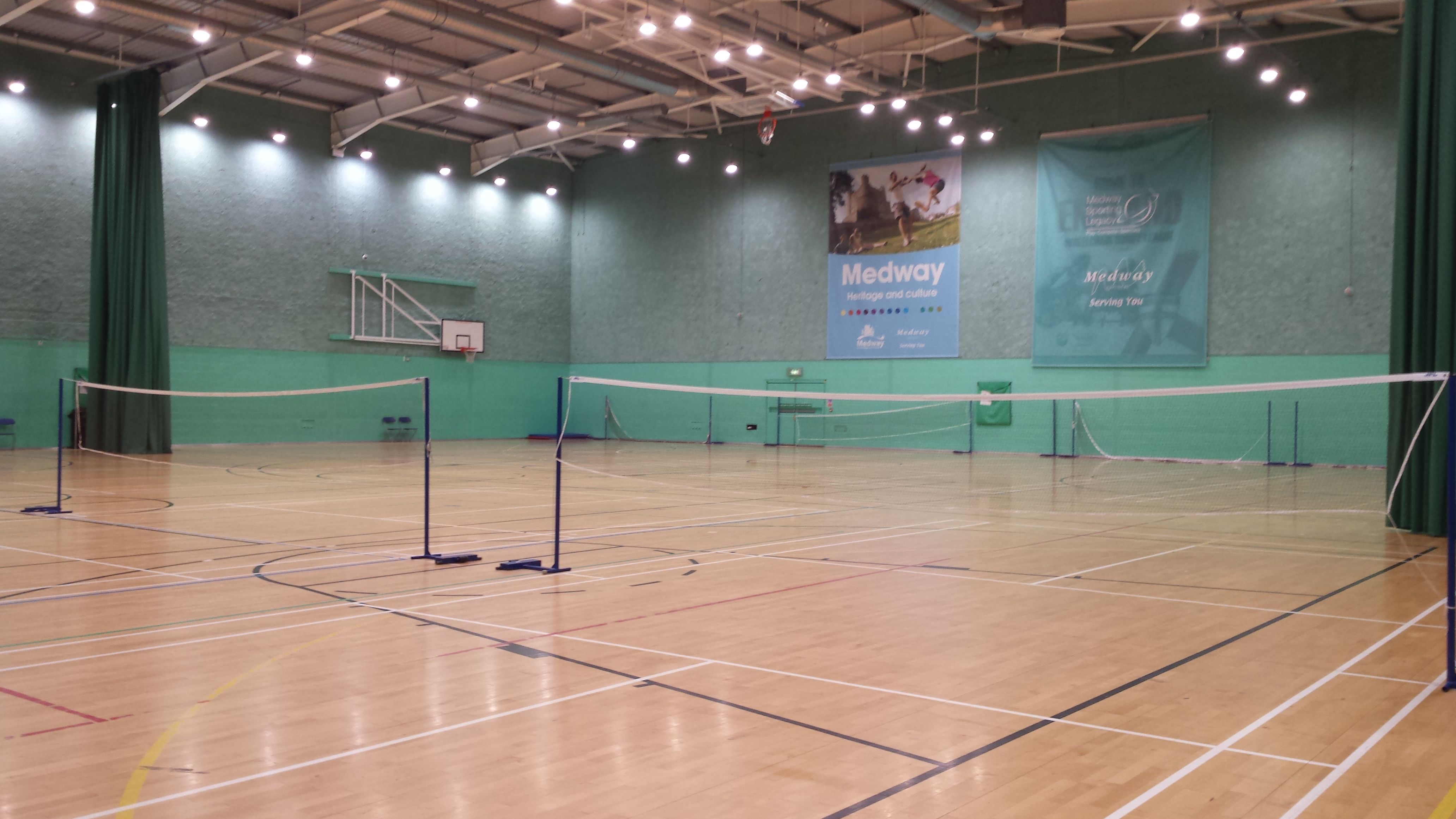 Lighting Project For Medway Park Sports Hall Commercial