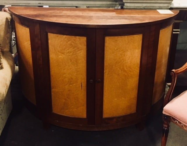 Best Mixed Woods Demilune Cabinet Handcrafted By Local 400 x 300