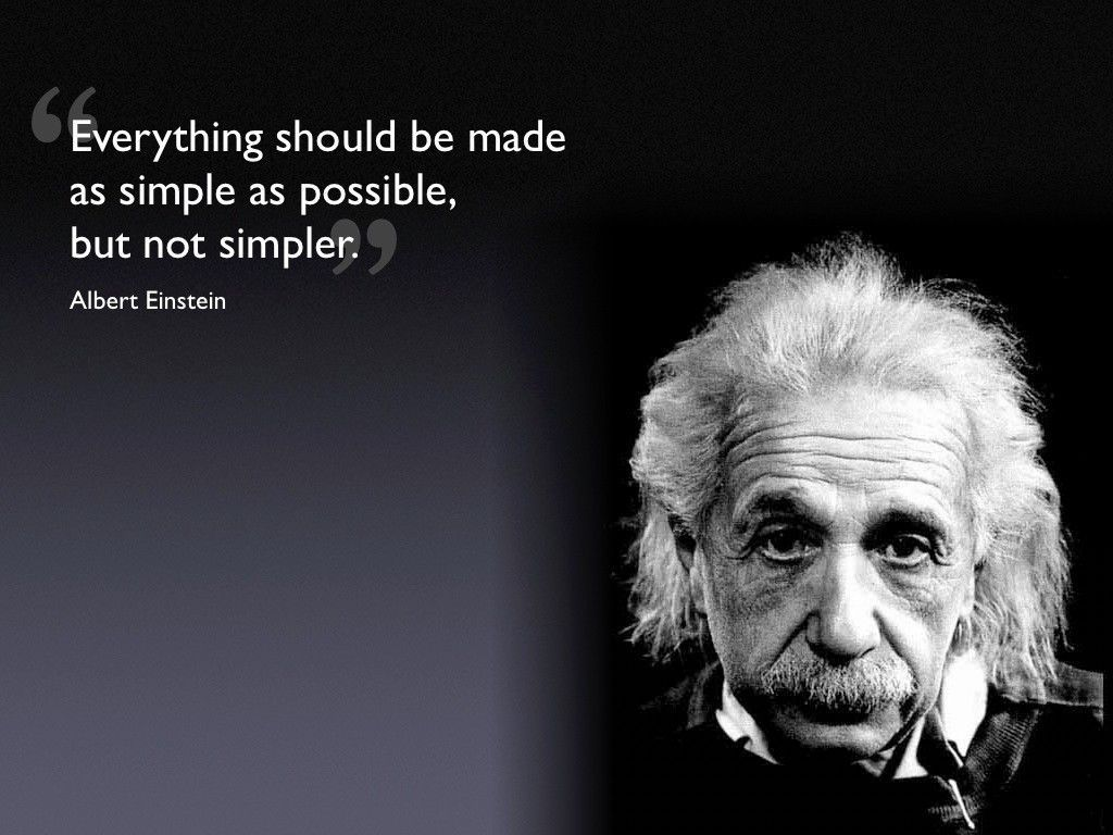 ALBERT EINSTEIN SIMPLE QUOTE GLOSSY POSTER PICTURE PHOTO e mc german physics 192