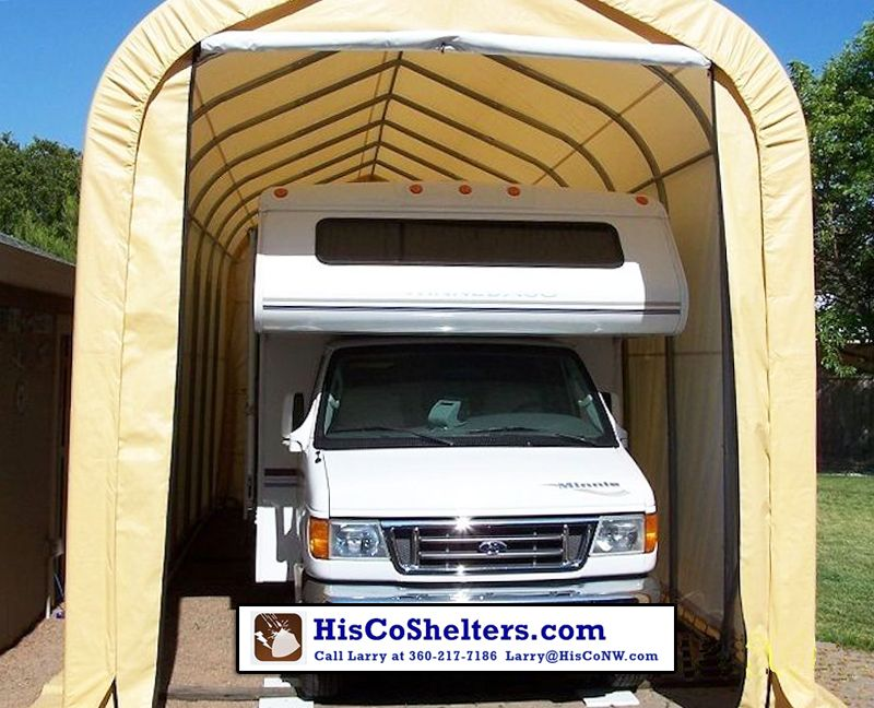 Shelter Logic Portable RV Garage Shelters Sizes From 13 15 Wide And 10 12 16 High At Peak Roof Heavy Duty