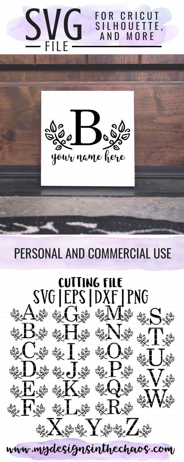 Free Leaf Letter Monogram Free SVG freesvg