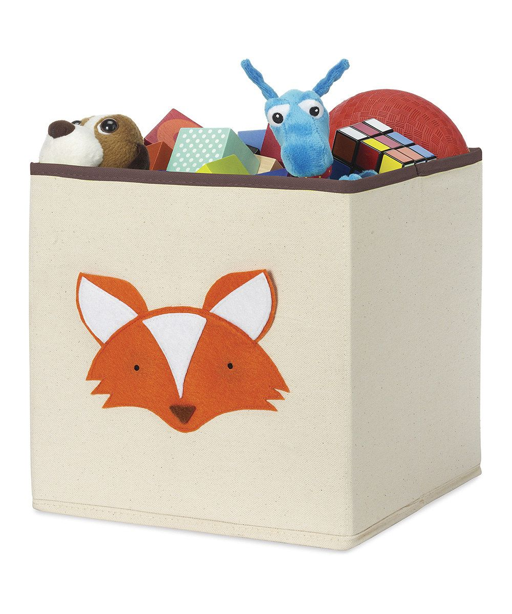 Fox Storage Cube Toy Storage Bins Fox Themed Nursery Whitmor