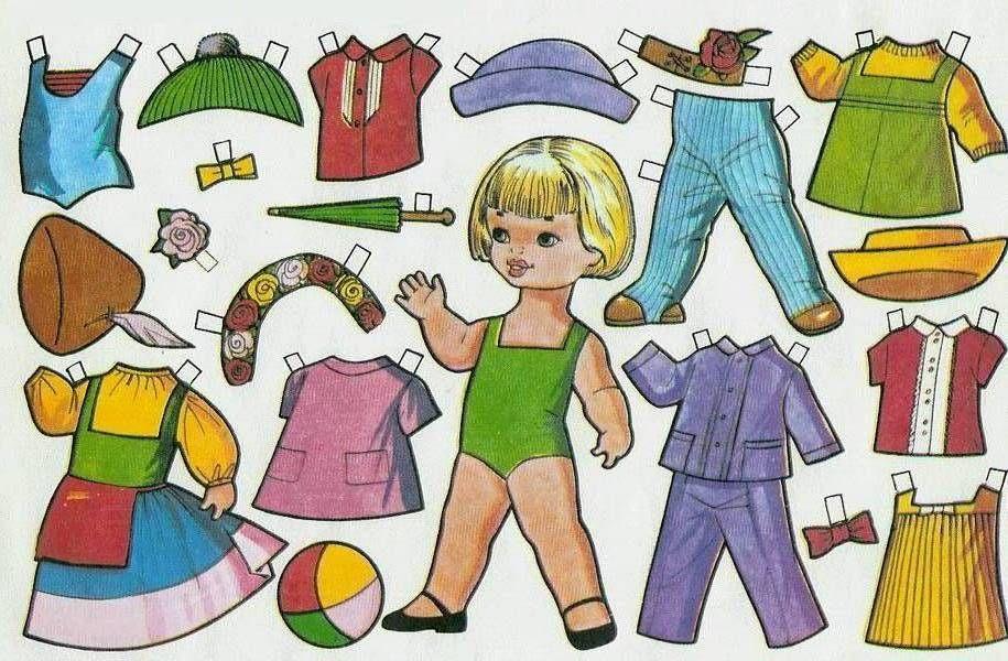 Muñecas De Papel Para Recortar Y Vestir Para Niños Paper