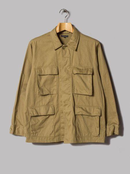 Engineered Garments BDU Shirt (Khaki Cotton Herringbone