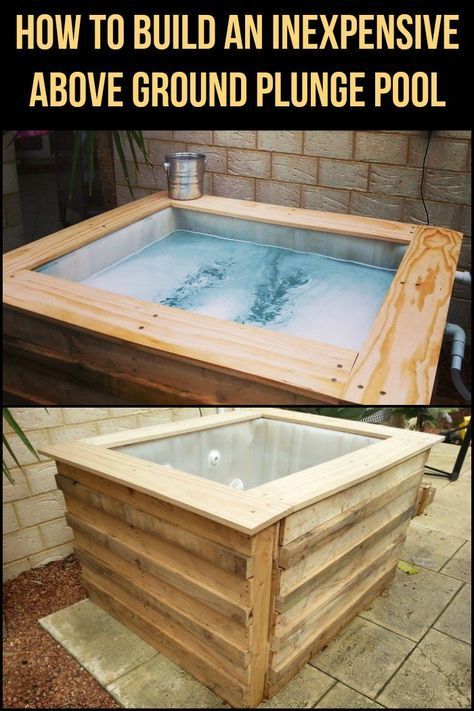 How To Build An Inexpensive Above Ground Plunge Pool