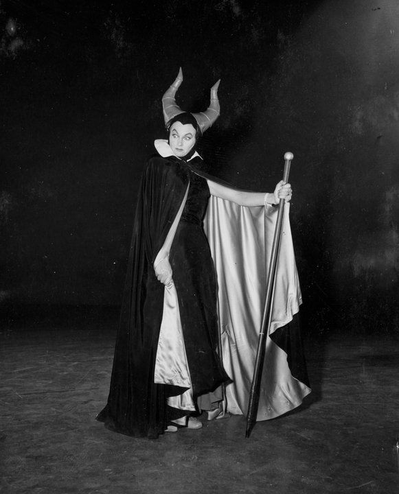 Recognize that arched brow? Eleanor Audley not only provided the voice for Maleficent, she also served as a live action reference for Marc Davis to use in animating the character.