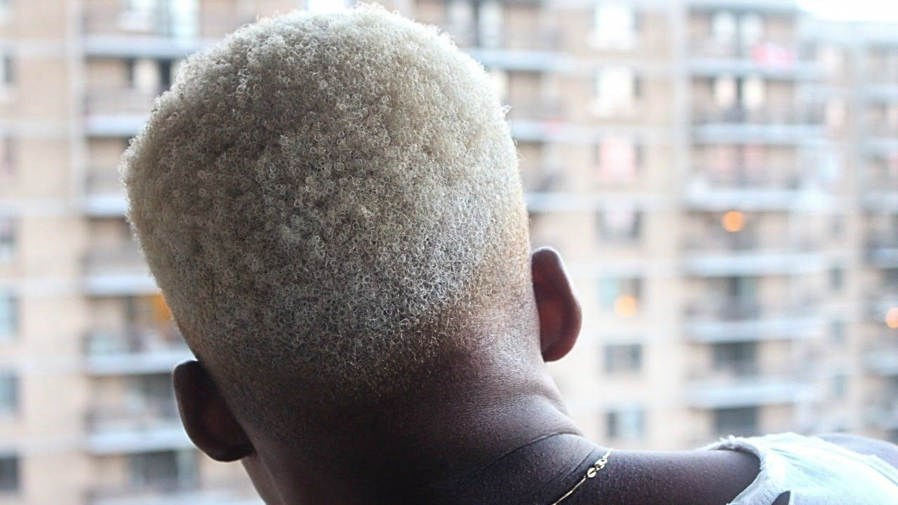 How To Black To Platinum Blonde Hair For Men Step By Step