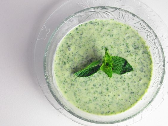Sauce: Mint Yogurt Sauce (for lamb chops)