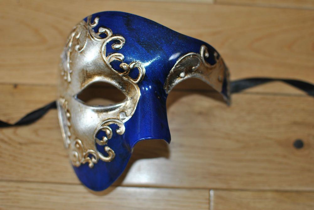Men Sliver Gold Venetian Phantom//Half face Mask Masquerade Ball Prom Party