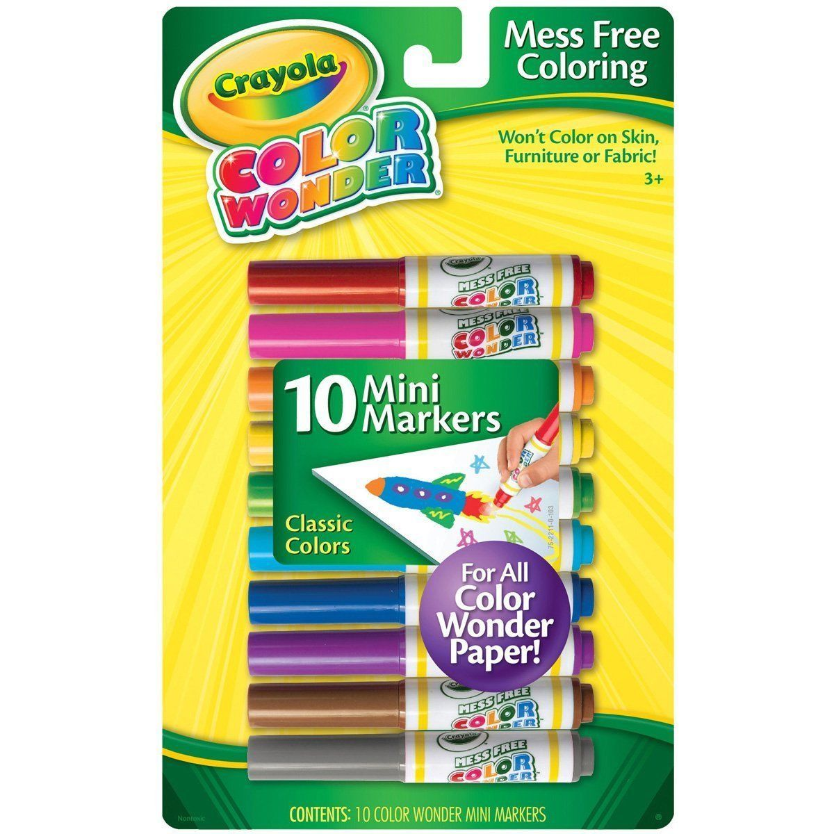 pens and markers 116656 crayola color wonder 10 mini markers pack
