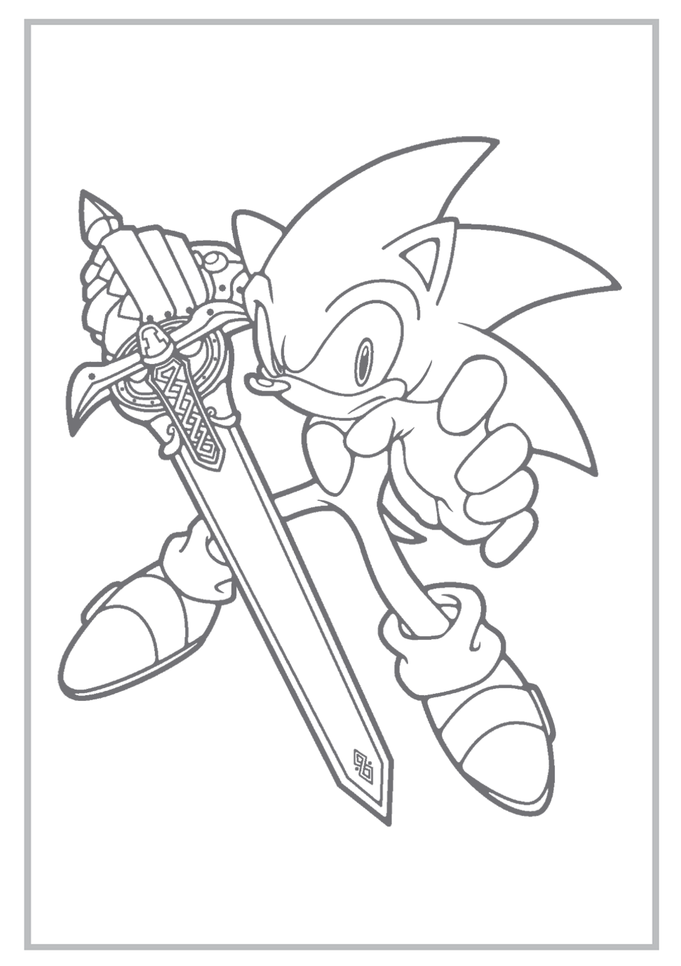 sonic coloring pages | Sonic the Hedgehog Coloring Pages Free ...