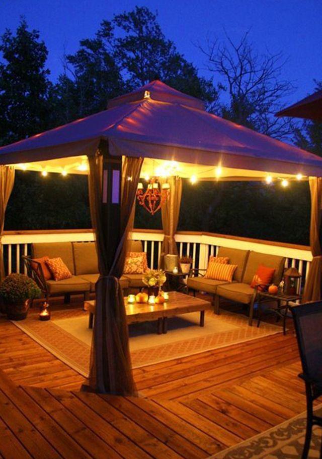 Very Nice Backyard Deck Decorating Backyard Patio