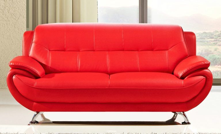 Cool Bright Red Sofa New 17 For Your Sofas And Couches Set