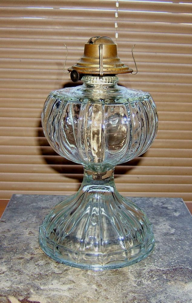 Vintage Giant Oil Lamp Pressed Glass Antique 1800 S Marked Giant Oil Lamps Lamp Rustic Interior Barn Doors