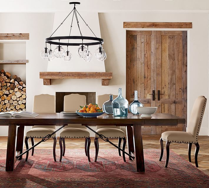 Pottery Barn Benchwright Extending Dining Table Alfresco Brown