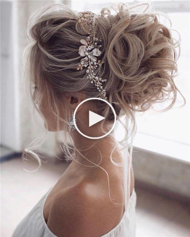 Photo of 50 Elegant and Elegant Wedding Hairstyles Ideas for Bridal 2019 – – On Wedding …