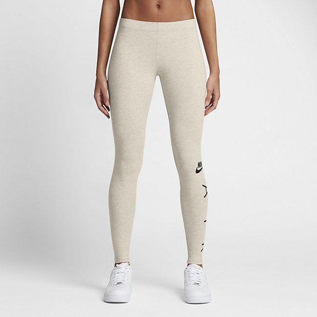 Nike Sportswear Women's Graphic Leggings Oatmeal Heather/Black