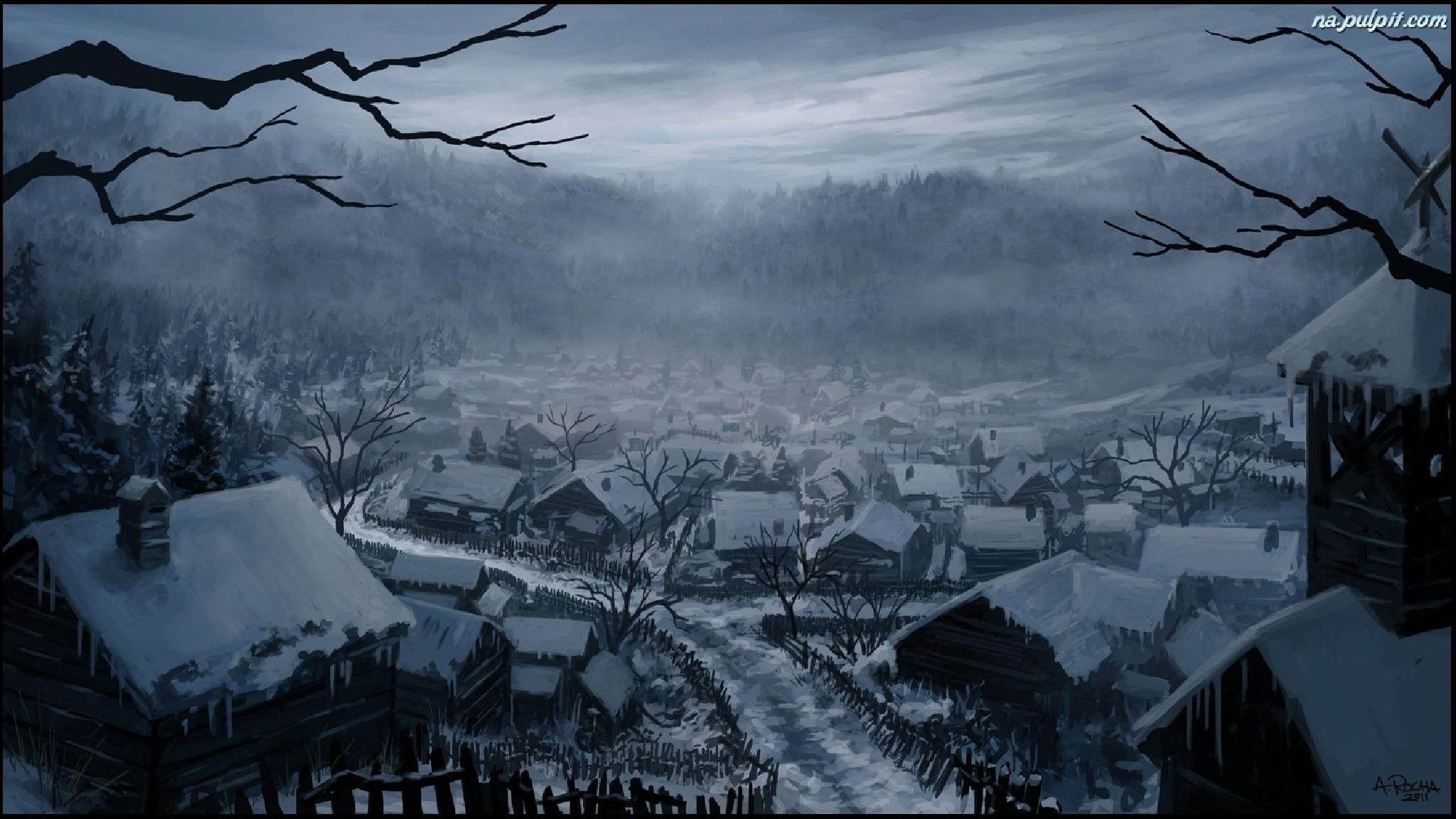 Image result for snowy village