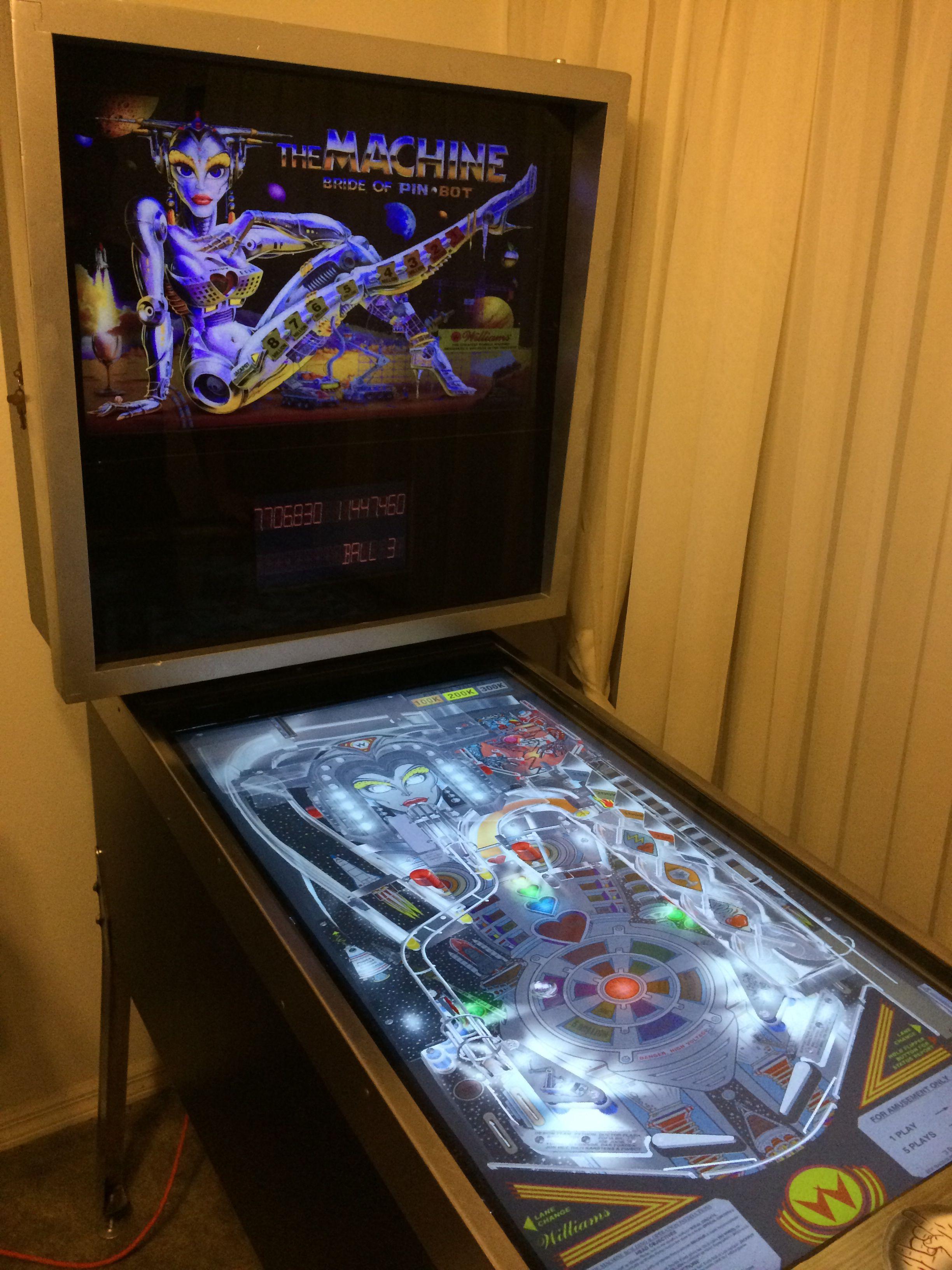 My brothers digital pinball machine. Cool Stuff