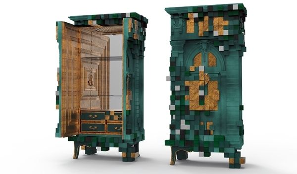 Eklektische Möbel Luxus Design Boca do Lobo Piccadilly-grün Kabinett ...