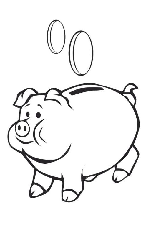 The Most Incredible Stunning Piggy Bank Coloring Page Http