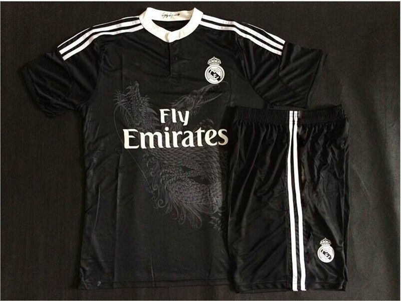 big sale 9549b 0289e Soccer Jerseys Real Madrid Kids 2015 Black Dragon Jersey ...