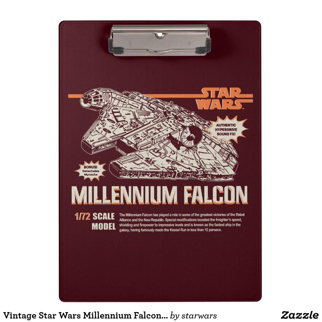 Vintage Star Wars Millennium Falcon Model Box Art