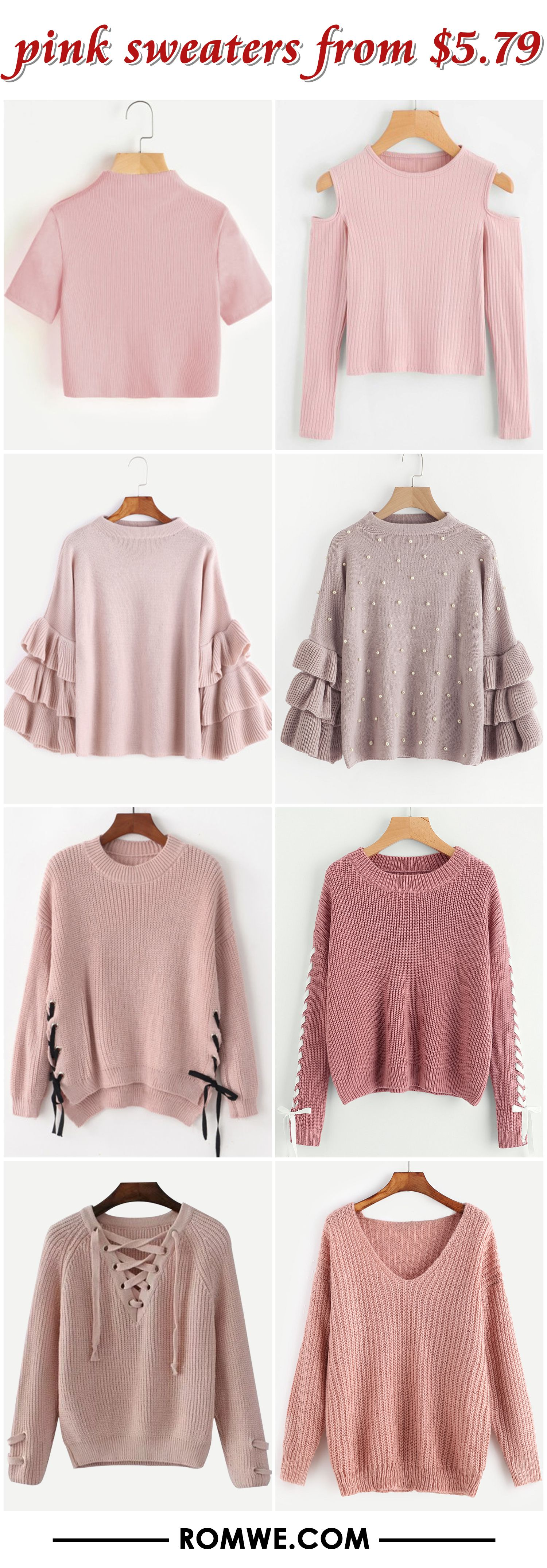 pink sweaters from clothes in 2018. Black Bedroom Furniture Sets. Home Design Ideas