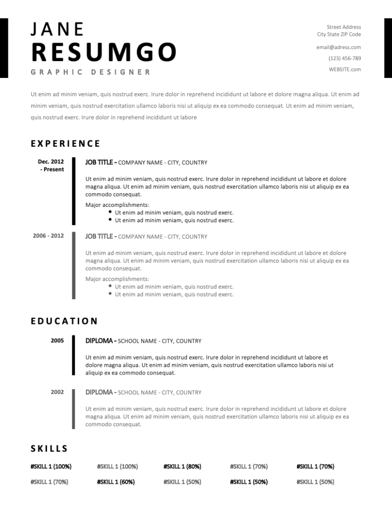 TIMO Simple & Stylish Resume Template