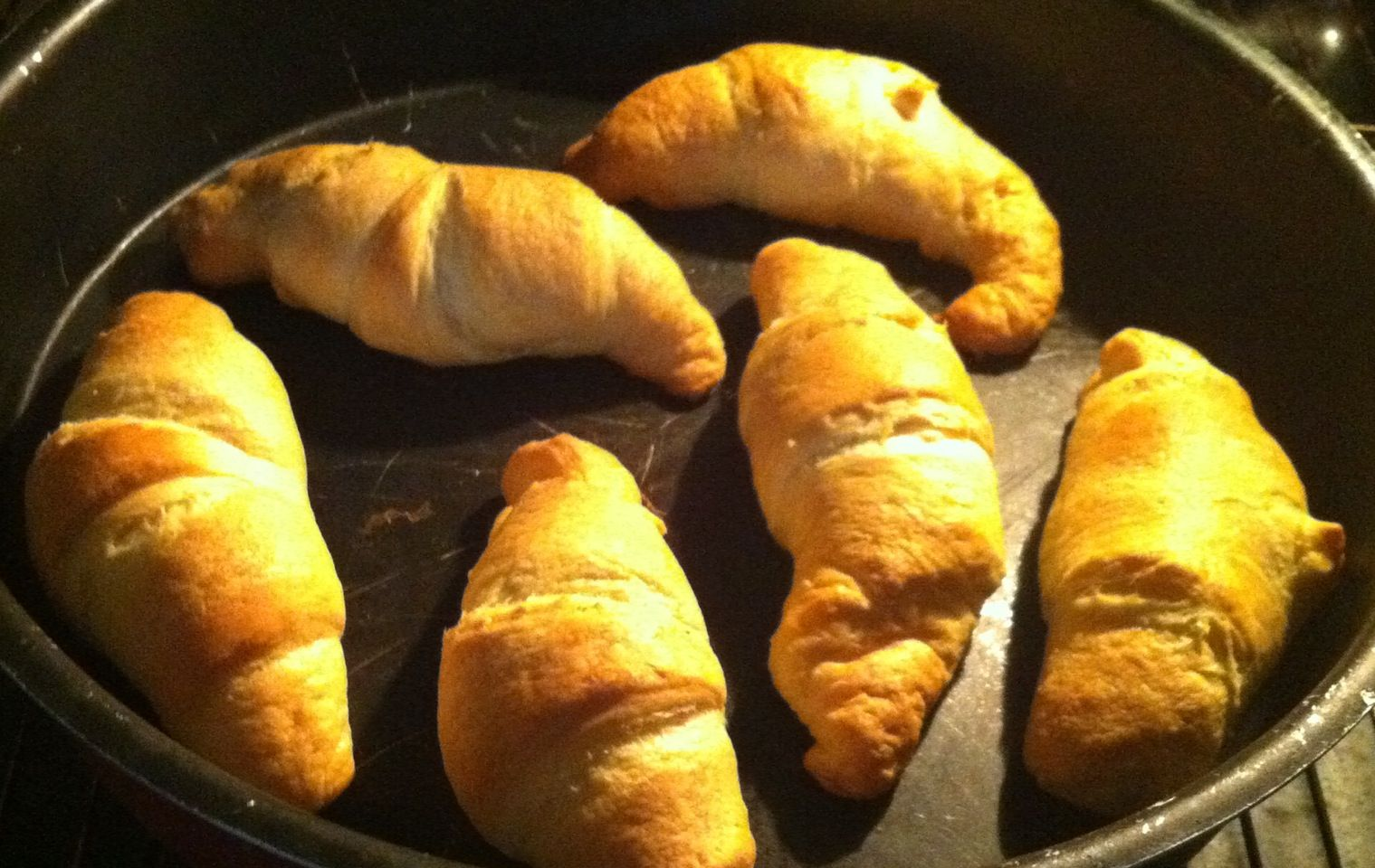 My croissants with chocolate