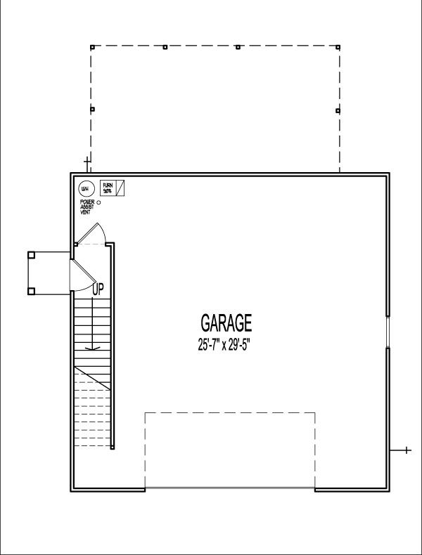 1 Bedroom 2 Story 900 SF House Plans Apartment over Garage ...