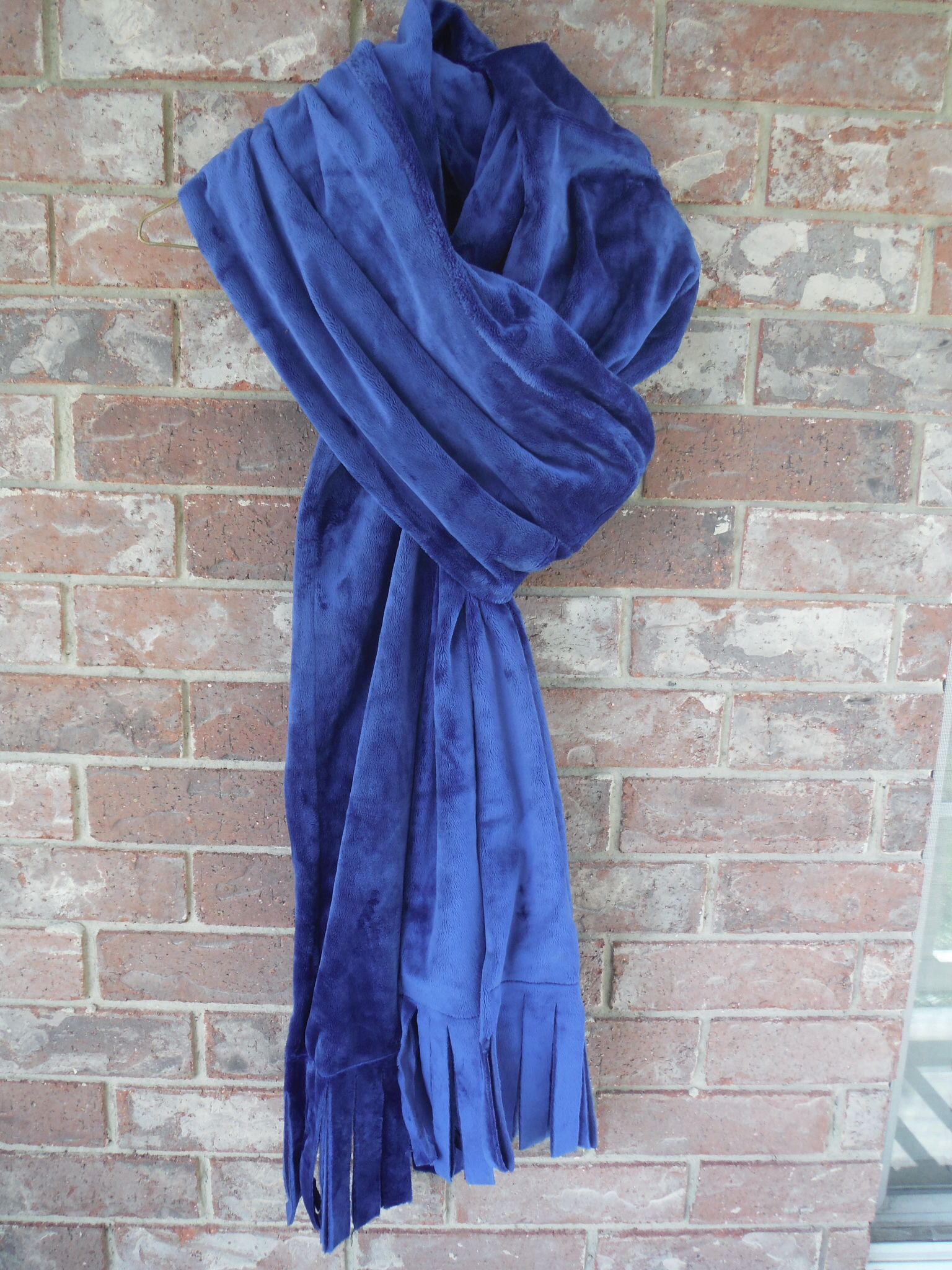 Men's electric blue scarf