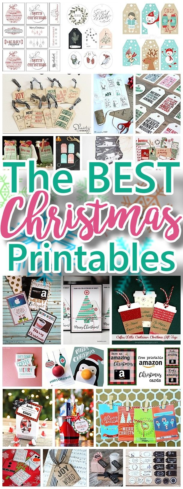 The best free christmas printables gift tags holiday greeting the best christmas and holiday free printables gift tags gift card holders christmas m4hsunfo