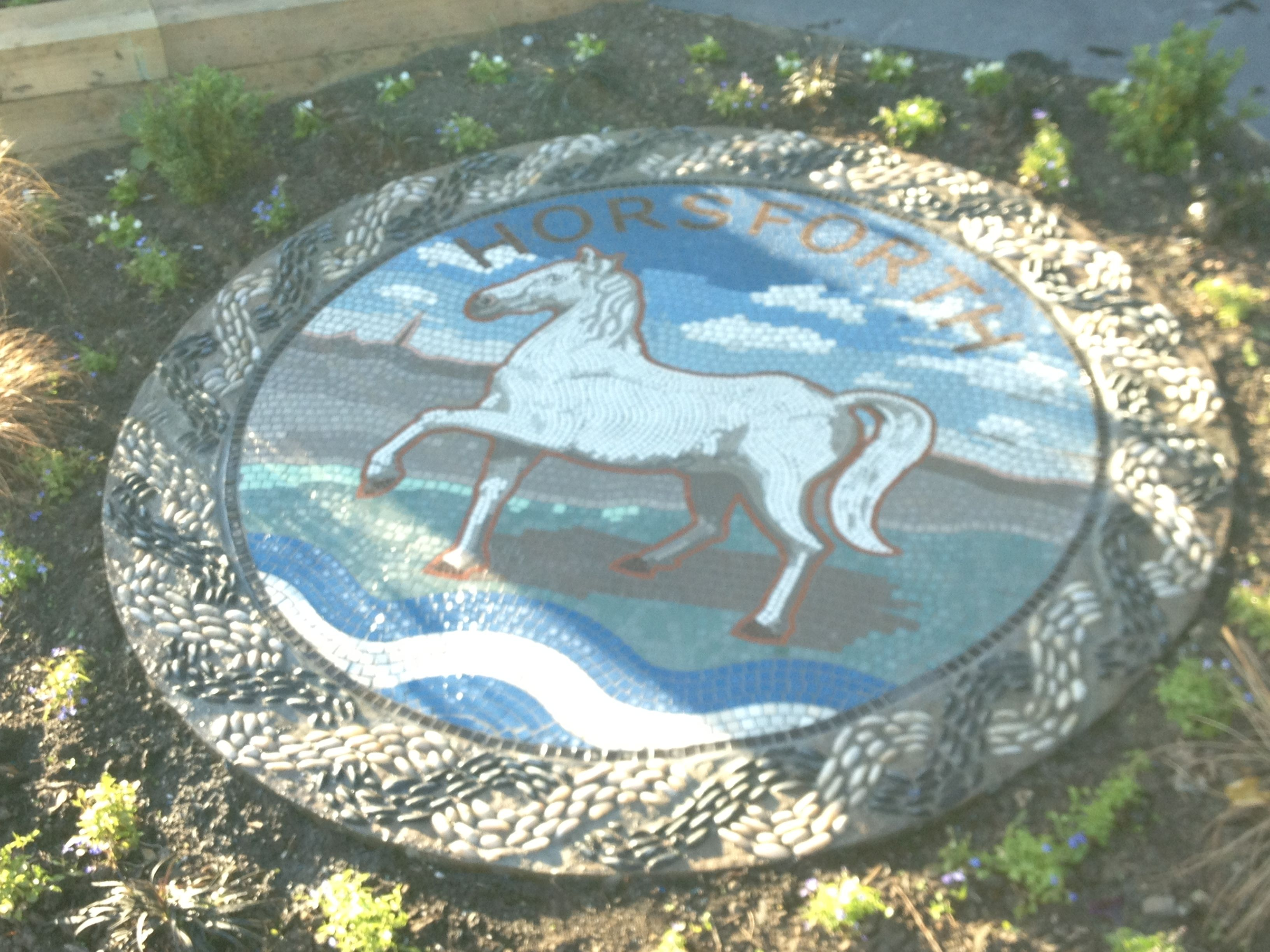 Horsforth public mosaic horse in handcut ceramic tiles and horsforth public mosaic horse in handcut ceramic tiles and guilloche in pebble dailygadgetfo Image collections