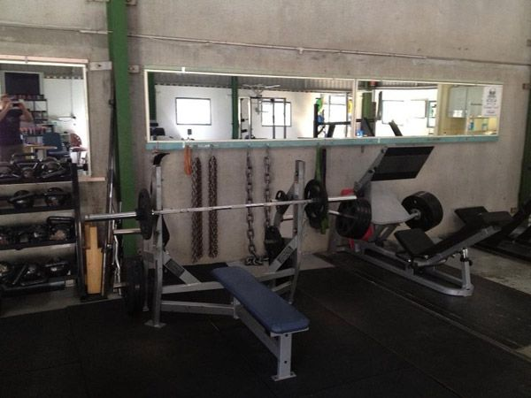Classic Garage Gym No Frills Get It Done Type Set Up Jealous Of