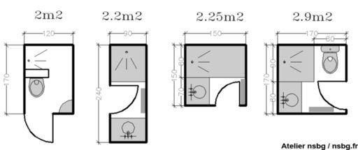 Варианты планировок санузлов шпаргалки по размерам Моя копилка - Plan salle de bain 3m2